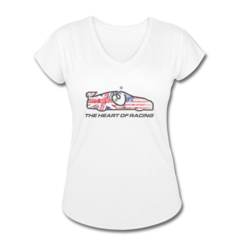 Women's V-Neck Tri-Blend T-Shirt by Ian James