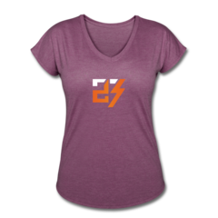 Women's V-Neck Tri-Blend T-Shirt by Drew Snider
