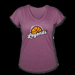 Women's V-Neck Tri-Blend T-Shirt by NBRPA