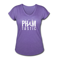 Women's V-Neck Tri-Blend T-Shirt by Tommy Pham