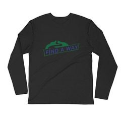 3601 Premium Fitted Long Sleeve Crew with Tear Away Label