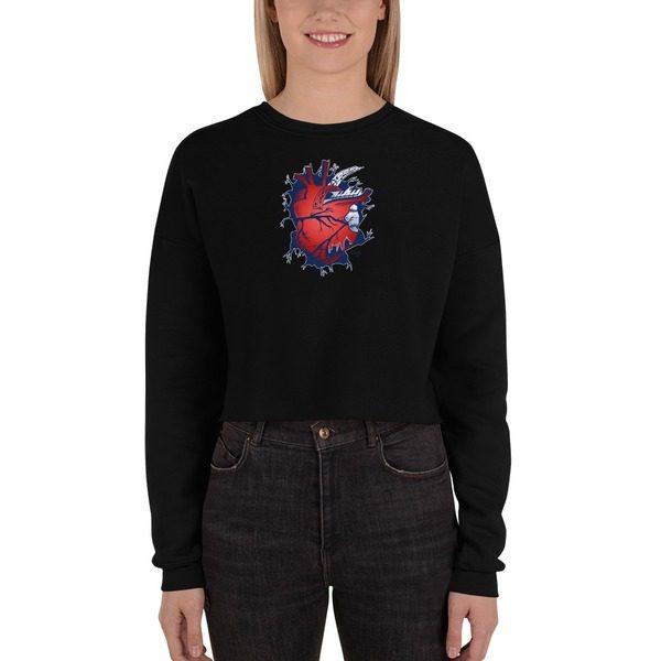 7503 Women's Fleece Crop Sweatshirt